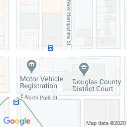 Map of Douglas County Kansas Courthouse Location