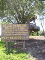 Wells Overlook Park Sign